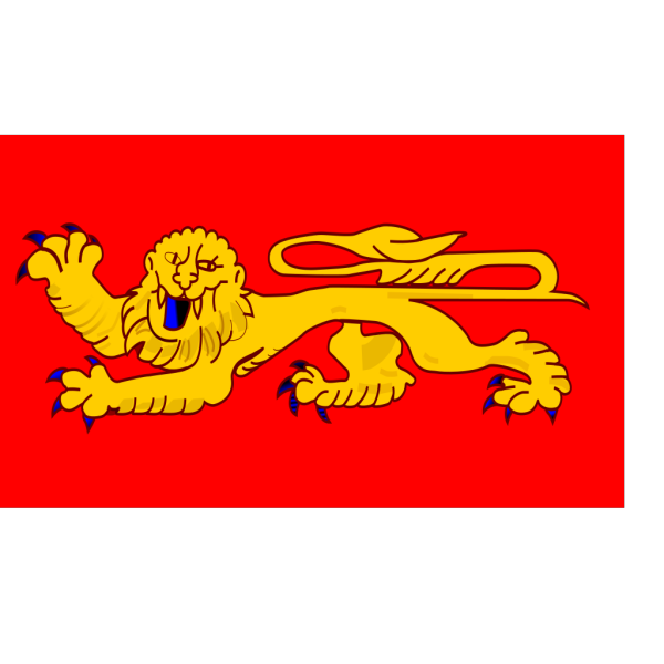 Flag Of Aquitaine PNG Clip art