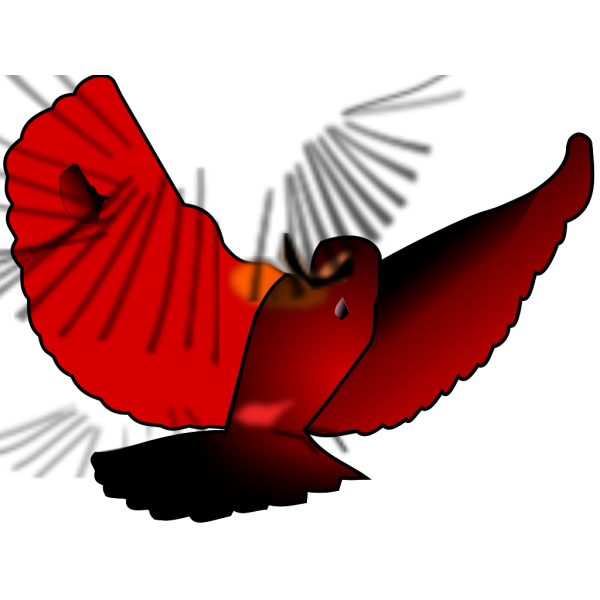 Red Bird Flying PNG Clip art