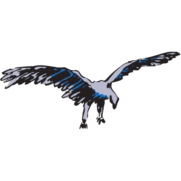 Silver And Blue Flying Bird PNG images