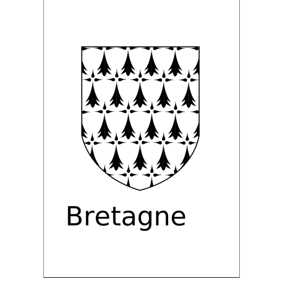 Brittany Coat Of Arms PNG Clip art
