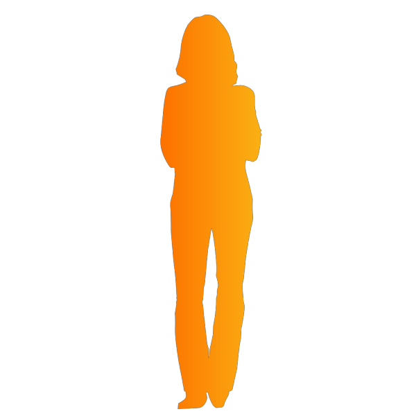 Solid Orange Person Outline Mauritius PNG Clip art