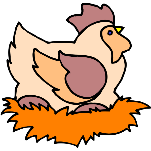 Chicken In Nest PNG images
