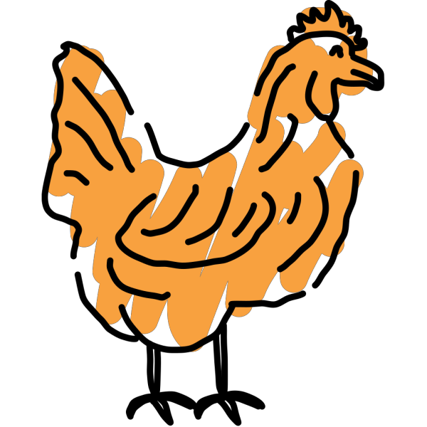 Scribbled Chicken PNG Clip art