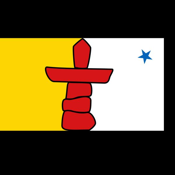 Flag Of Nunavut PNG Clip art