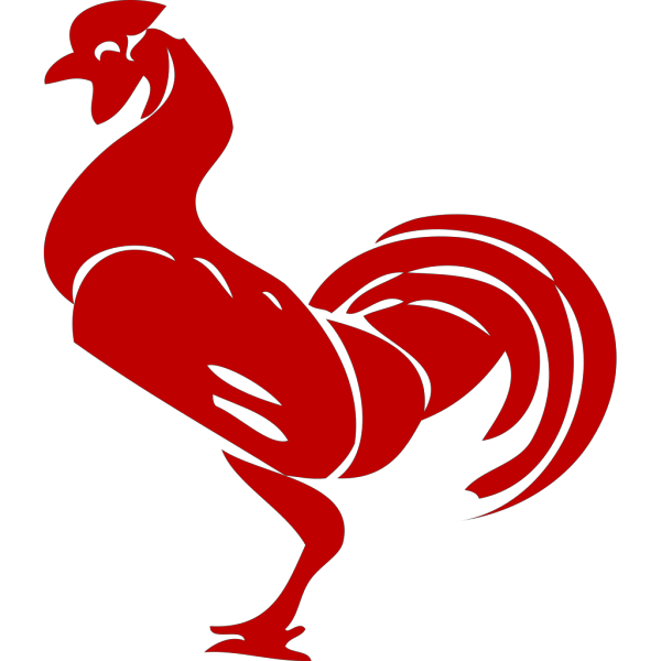Green And Red Rooster PNG Clip art