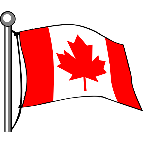 Canadian Flag On Pole PNG Clip art