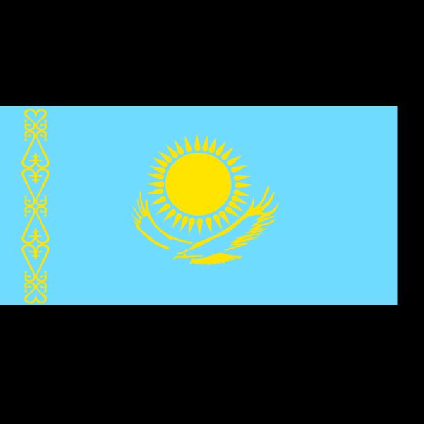 Flag Of Kazakhstan PNG Clip art