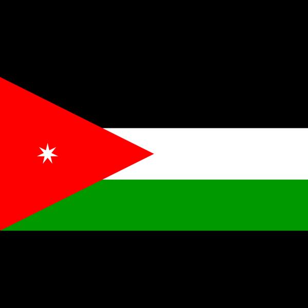 Flag Of Jordan PNG Clip art