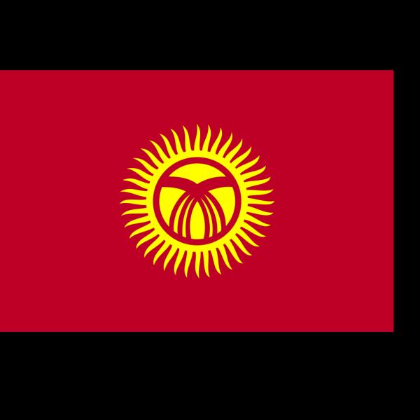 Flag Of Kyrgyzstan PNG Clip art
