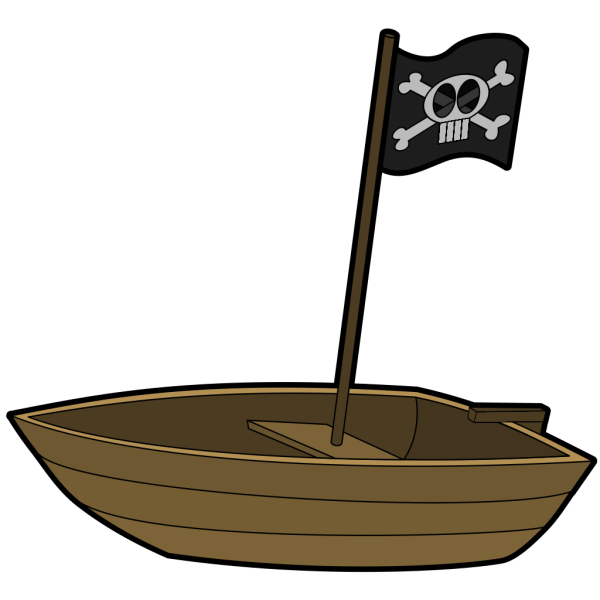 Pirate Flag Boat  PNG Clip art