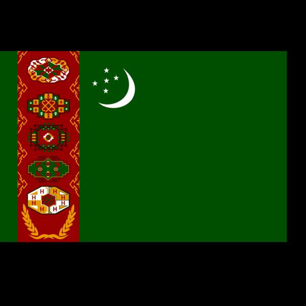 Flag Of Turkmenistan PNG Clip art