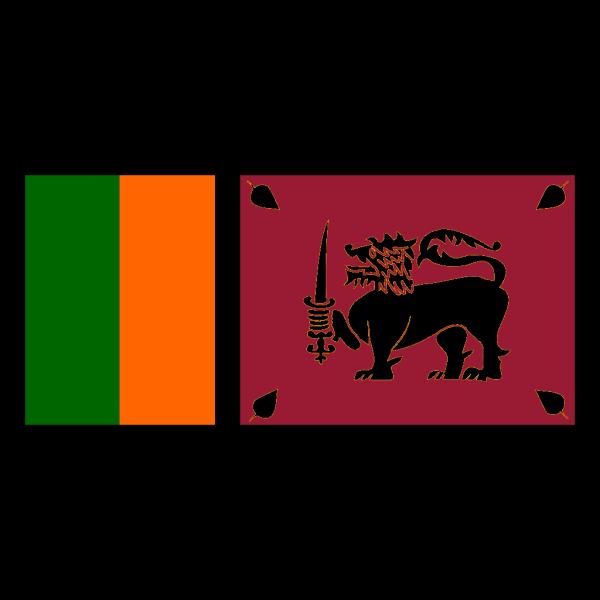 Flag Of Sri Lanka PNG Clip art