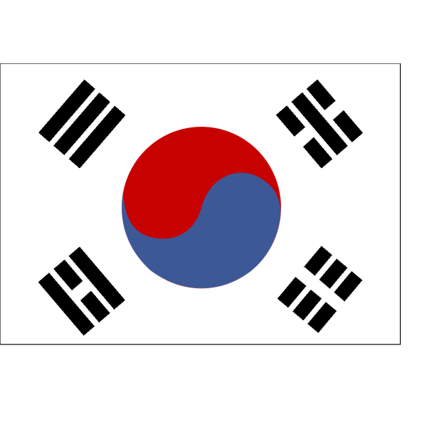 Flag Of South Korea PNG Clip art