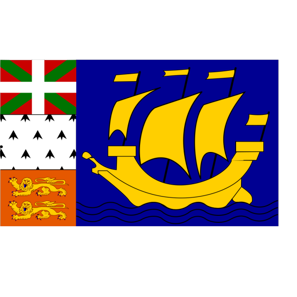Flag Of Saint Pierre And Miquelon PNG Clip art