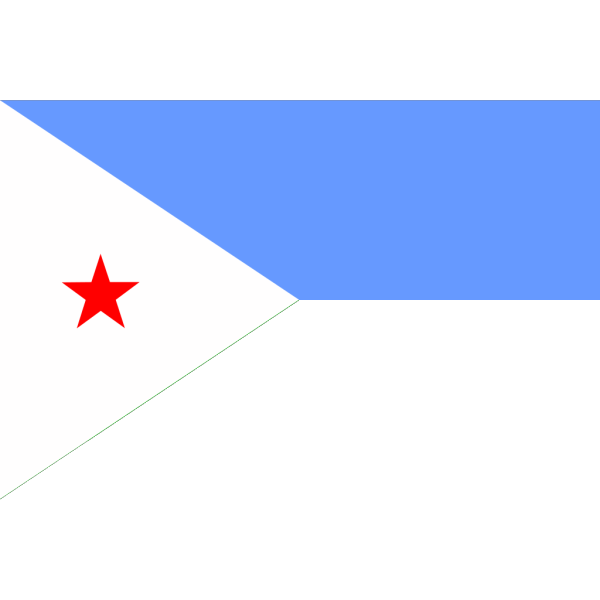 Flag Of Djibouti PNG Clip art