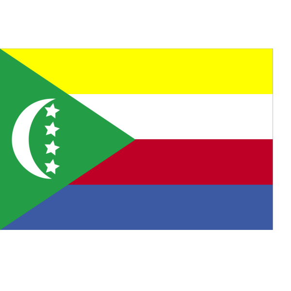 Flag Of The Union Of Comoros PNG Clip art