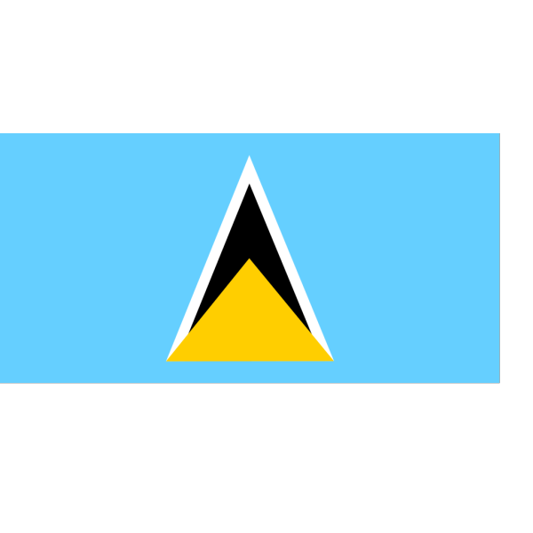 Flag Of Saint Lucia PNG Clip art