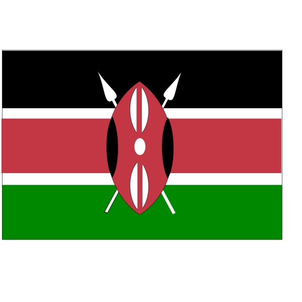 Flag Of Kenya PNG Clip art