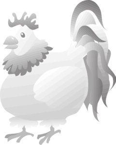 Grayscale Digital Chicken Art PNG images