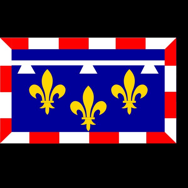 Flag Of Centre Val De Loire PNG Clip art