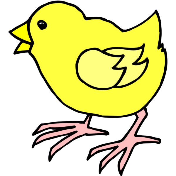 Cartoon Baby Chick PNG Clip art