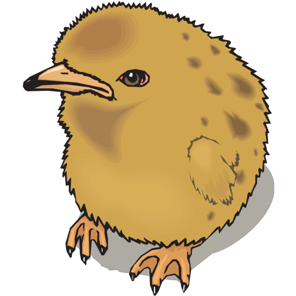 Fuzzy Baby Chick PNG Clip art