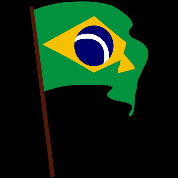 Waving Flag Of Brazil PNG Clip art