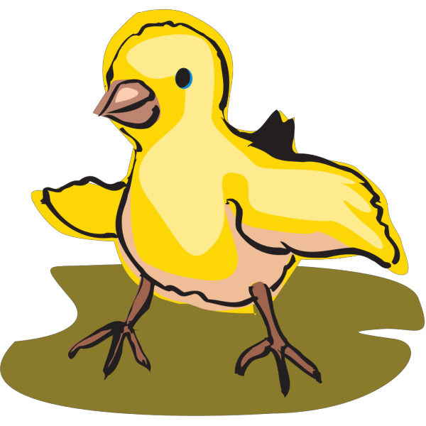 Walking Bab Chick Art PNG Clip art