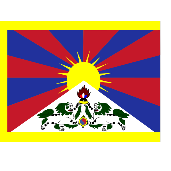 Flag Of Tibet PNG Clip art