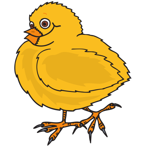 Happy Baby Chick PNG Clip art
