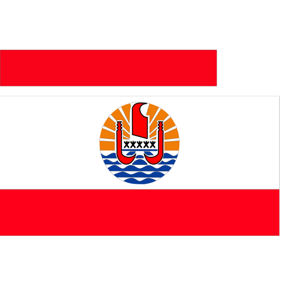 Flag Of French Polynesia PNG Clip art