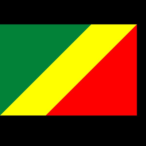 Flag Of Brazzaville PNG Clip art