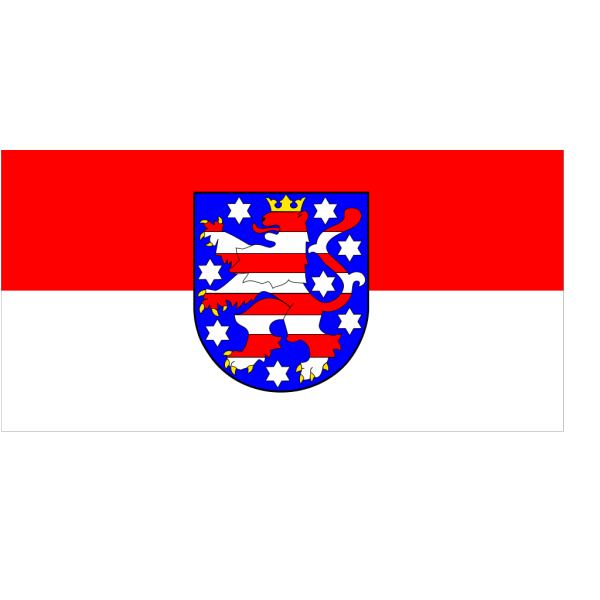 Flag Of Thuringia PNG Clip art