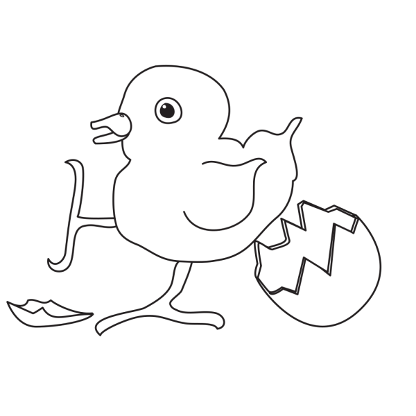 Baby Chick Hatched Outline PNG images