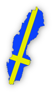 Sweden Flag In Map Of Sweden PNG Clip art