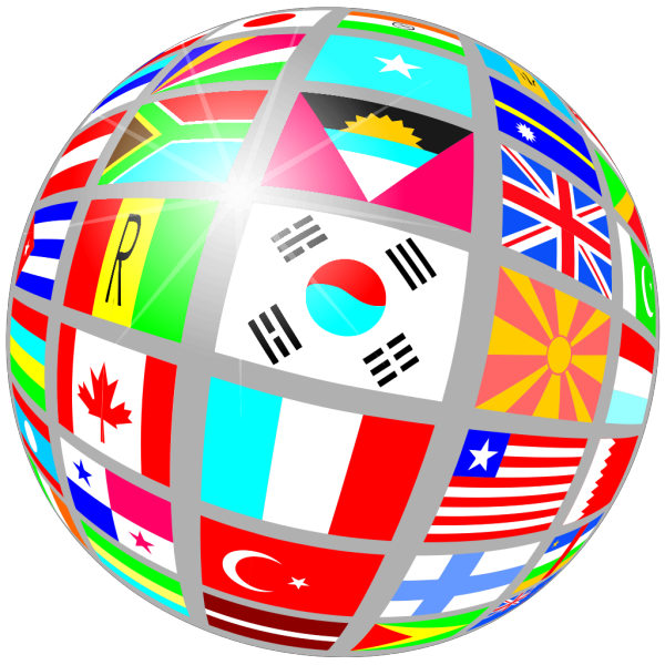 Globe Of Flags PNG Clip art