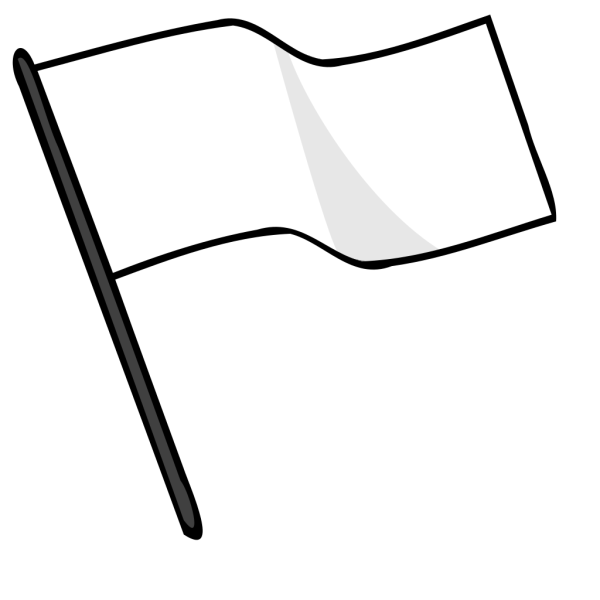 Waving White Flag PNG clipart