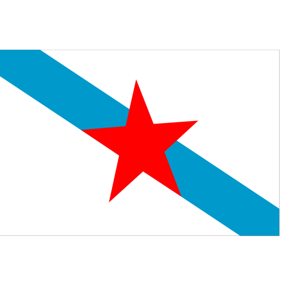 Socialist Nationalist Galician Flag PNG Clip art
