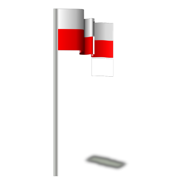 Flag Of Poland In The Wind PNG images