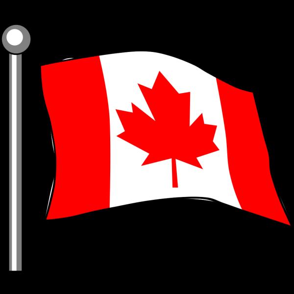 Canadian Flag Flying PNG Clip art