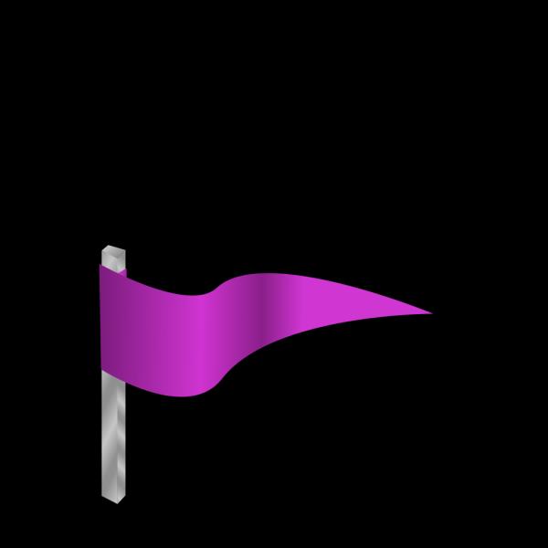 Waving Purple Flag PNG Clip art