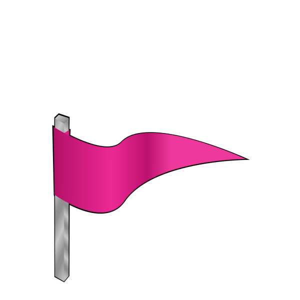 Waving Pink Flag PNG Clip art