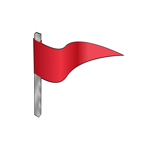 Waving Red Flag PNG Clip art