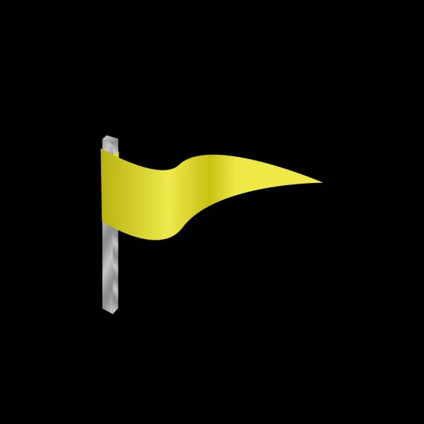 Waving Yellow Flag PNG Clip art