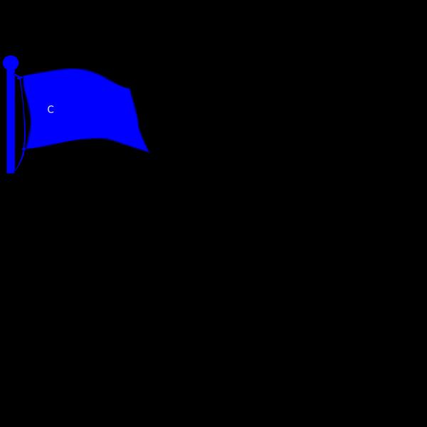 Crossroads Flag On Pole PNG Clip art