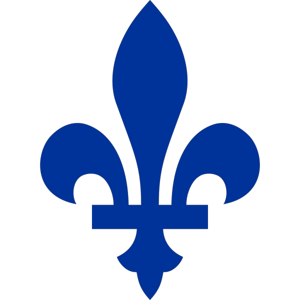 Blue Fleur De Lis In The Style Of The Flag Of Quebec PNG Clip art