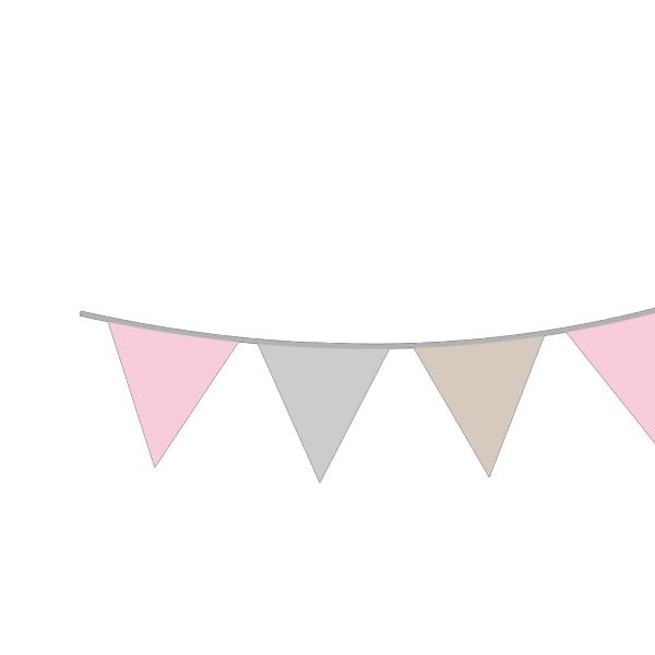 Pink Gray Tan Bunting PNG Clip art