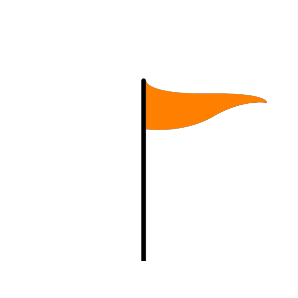 Orange Flag PNG clipart