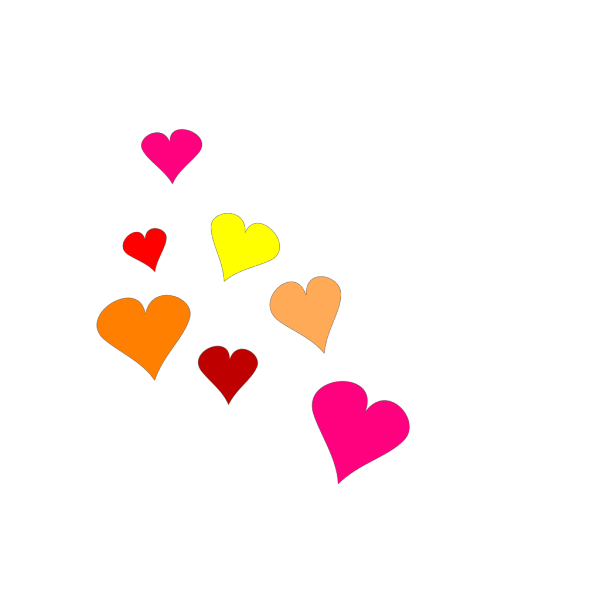 Glossy Hearts 3 PNG images