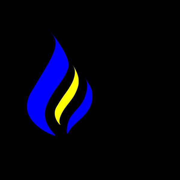 B&w Flame Logo PNG Clip art